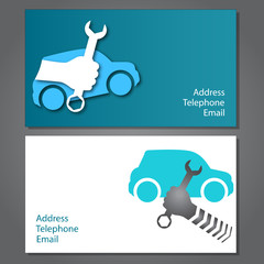 design business card for auto repair, vector
