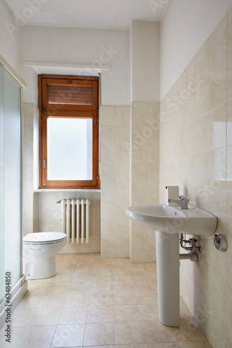 Simple bathroom in small, normal apartment