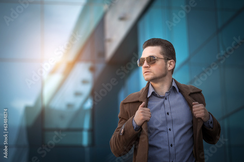 Stylish young man in the city center