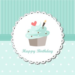 Mint Cupcake Birthday
