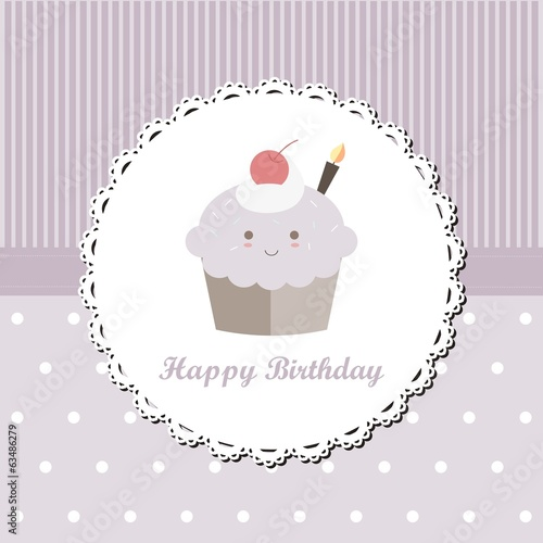 Blueberry Cupcake Birthday