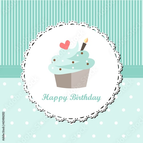 Mint Cupcake Birthday