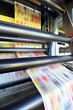 Leinwanddruck Bild - Druckmaschine für Tageszeitung // printing machine