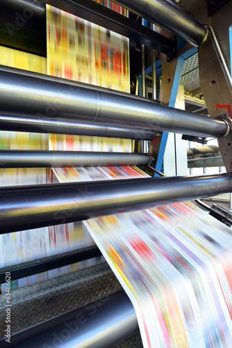 Leinwanddruck Bild Druckmaschine für Tageszeitung // printing machine