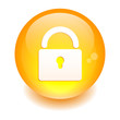 Button online security icon orange