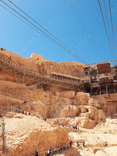 Cable car in fortress Masada, Israel