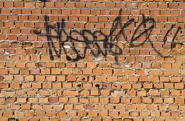 Graffiti on grunge wall