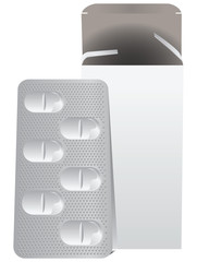 Metal plate with pills