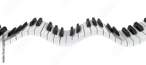 Piano keyboard wave