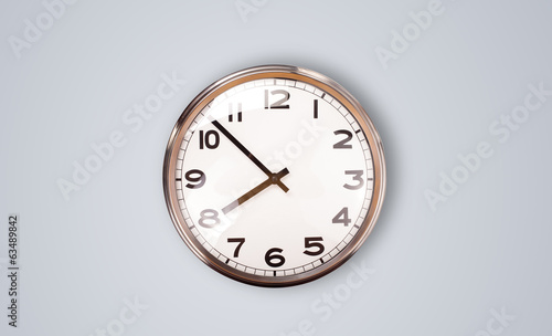 Modern clock with hours and minutes