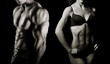 Bodybuilding. Man and woman - 63490214