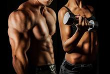 Bodybuilding. L'homme et la femme