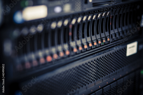 Leinwanddruck Bild Storage server
