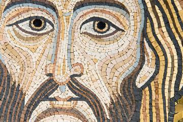 Jesus Christ, Modern Mosaic made in Byzantine Style (Sicily).