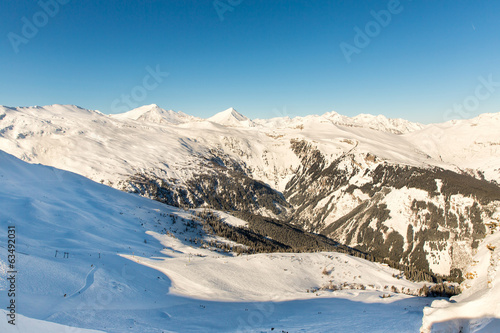 Ski resort Bad Gastein in winter  mountains, Austria