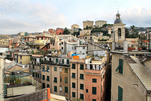 Beautiful view of Genova, Italy