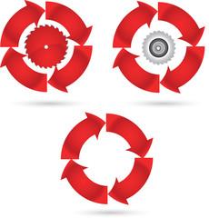 Round blade icon
