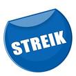 Plakette Streik in blau - g769