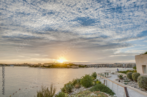 Manoel Island in front of Valletta, Malta