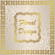 Stylish card with floral frame