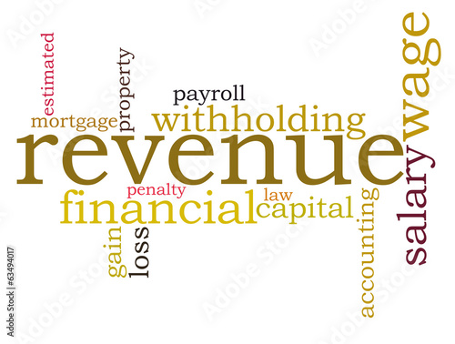 revenue tax word cloud