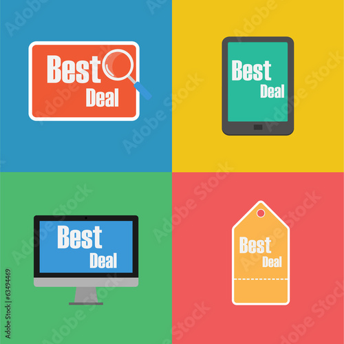 Vector Best deal sign for shopping