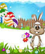 Happy Easter nature background