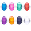 Assorted charm glass textured beads for necklace or bracelet.