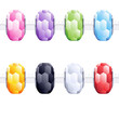 Assorted charm glass cut beads for necklace or bracelet.