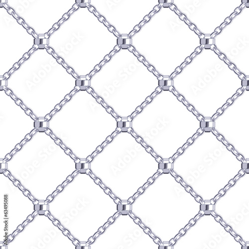 Seamless pattern with crossed steel chains.