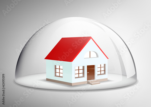 house under a glass dome