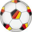 Fußball schwarz-rot-gold