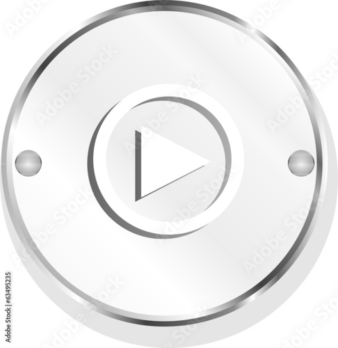 multimedia play icon button, design element