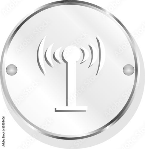 Wifi symbol icon (button) isolated on white background