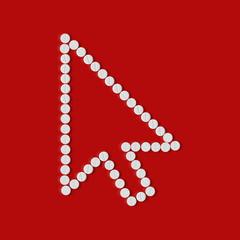 pills concept, cursor, arrow