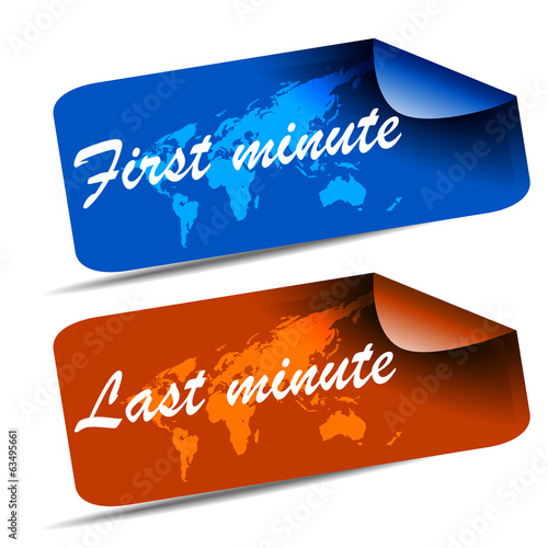 First minute and last minute travel web tag