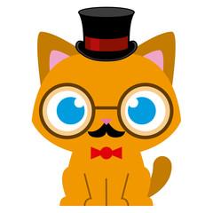 Adorable Cartoon Cat Dressed As A Gentleman