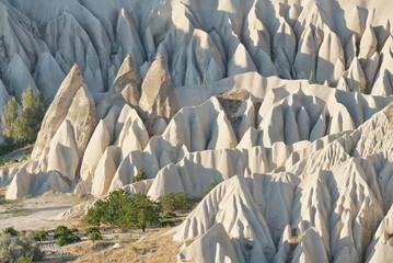 Geological formations in Cappadocia, Turkey.