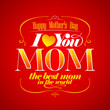 Happy Mothers's Day typographical card.