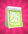 Great spring sale poster in form of tear-off calendar.
