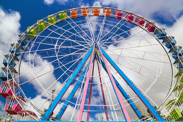 A ferris wheel on a fair