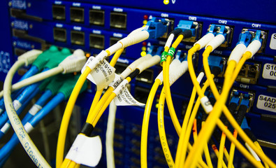 Fiber Optics with SC/LC connectors. Internet Service Provider eq