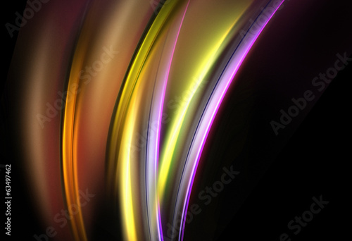 Awesome bright elements on black background