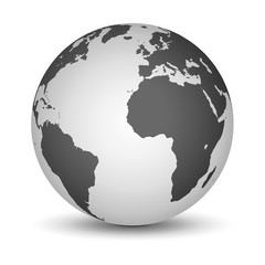 White and black globe
