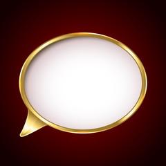 Golden speech bubble