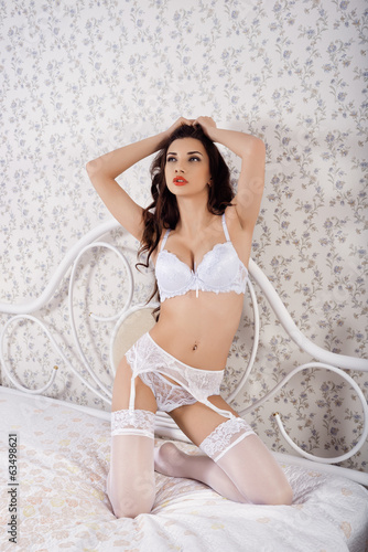 Photo of young  girl in erotic lingerie
