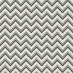 Pattern in zigzag with blue lines. Seamless retro vector geometr