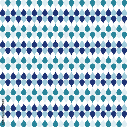 Seamless geometric pattern with drops in sea tints