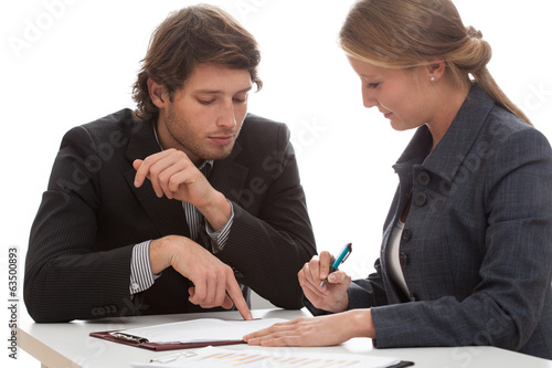 canvas print picture Business conversation
