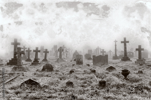 Vintage Cemetery Background